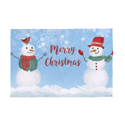 Happy Snowmen Christmas Banner - 5ft x 3ft