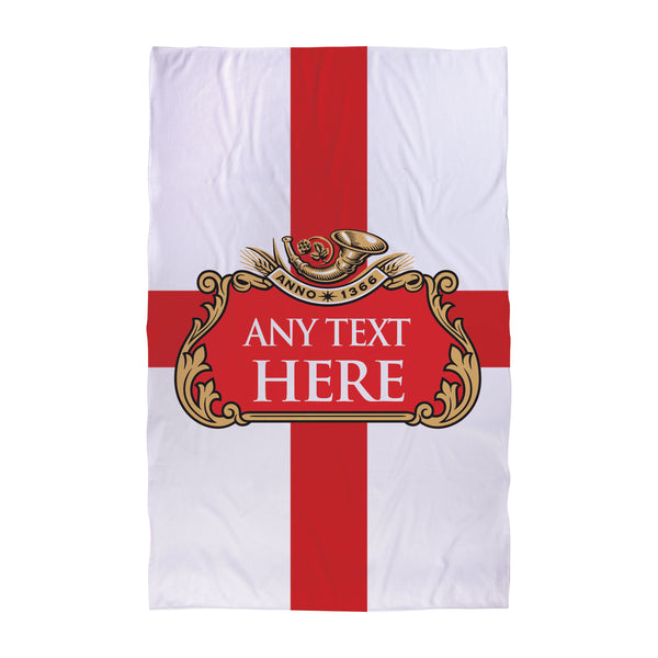 Red Beer Label - St George Beach Towel