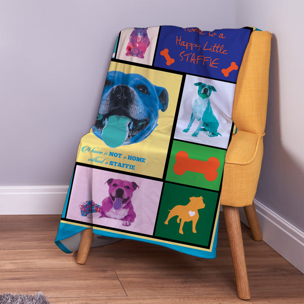 staffie pet blanket dog gift