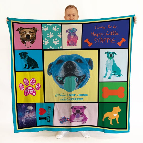 Staffie - Colourful Pet Blanket