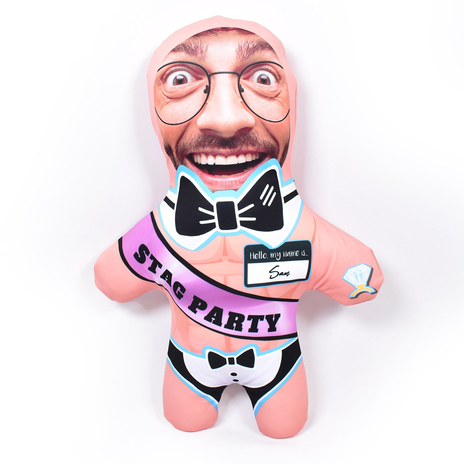 Stag Party Butler - Pick Your Skin Colour - Personalised Mini Me Doll