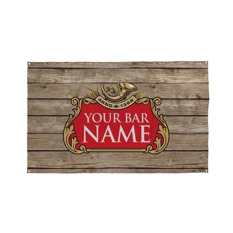 Wood Inspired Bar Banner - 5ft x 3ft | Funny Personalised Pub Sign