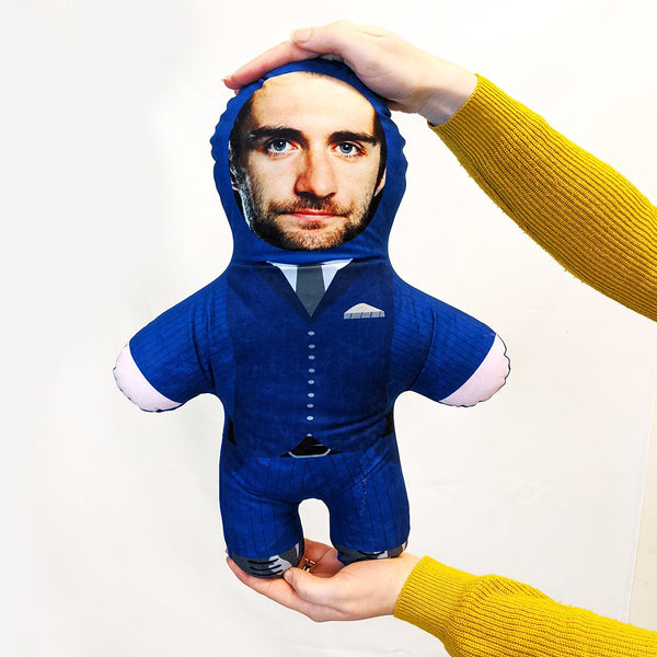 Blue Suit Mini Me Doll | Funny Stag Prank Ideas