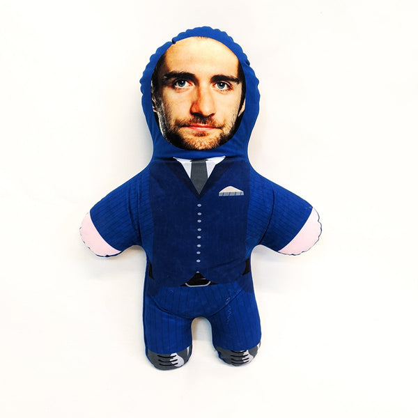 blue suit mini me doll