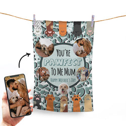 YOU'RE PAWFECT TO ME - 5 PHOTO PERSONALISED TEA TOWEL