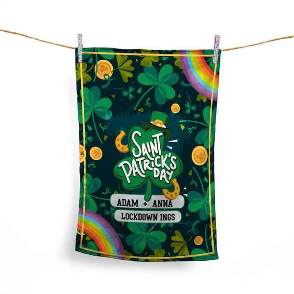 ST PATRICK'S DAY - PERSONALISED TEA TOWEL TWO