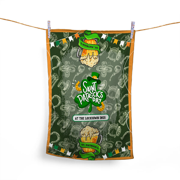 ST PATRICK'S DAY - PERSONALISED TEA TOWEL ONE