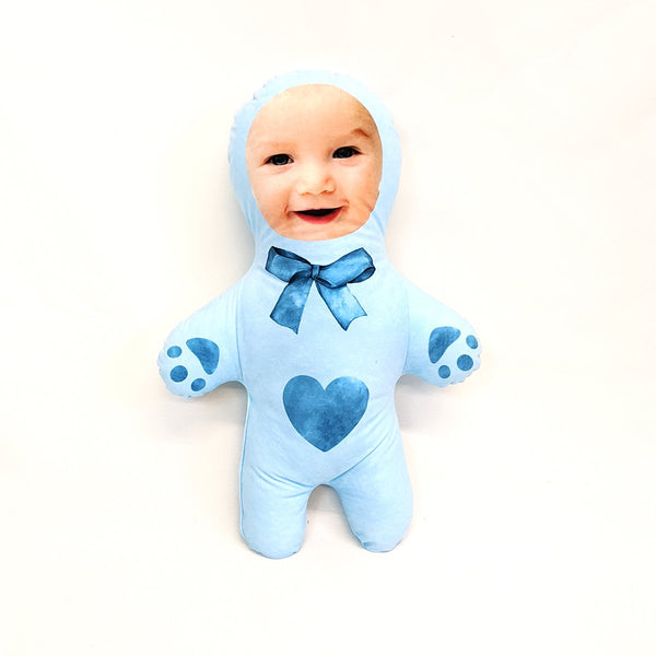 teddy blue mini me doll