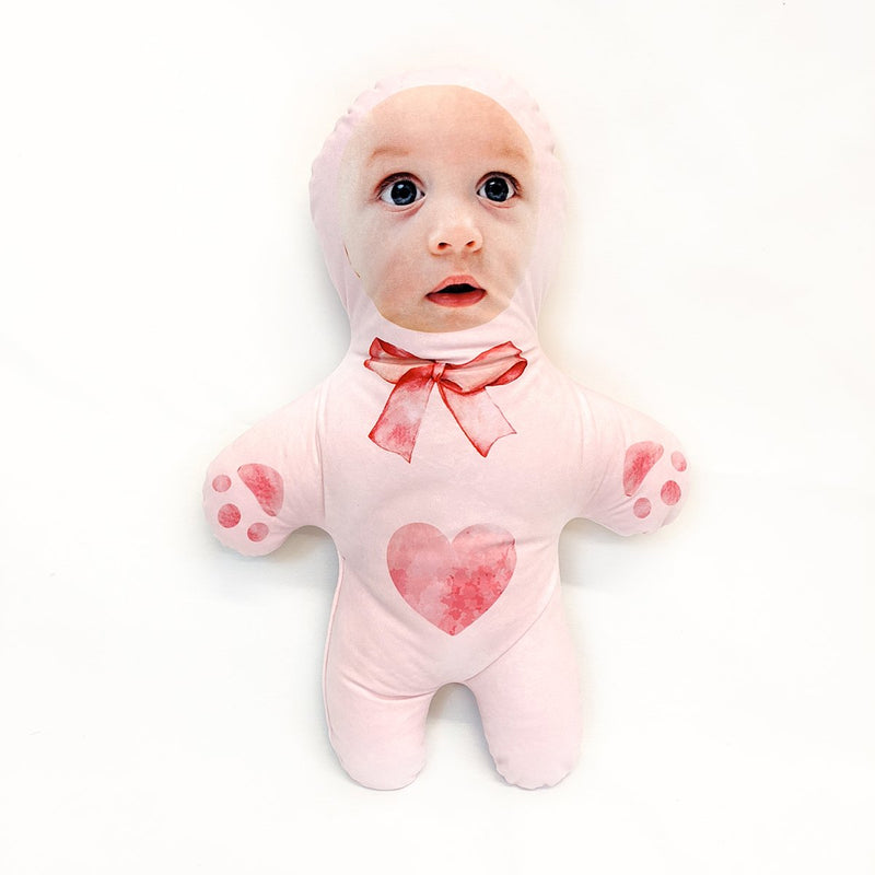 pink teddy mini me doll