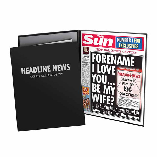 Personalised The Sun Proposal News Folder