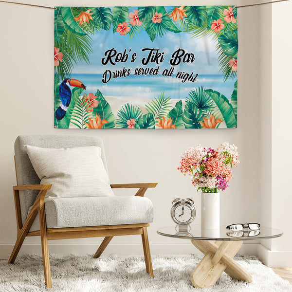 Tiki Party Backdrop - 5ft x 3ft