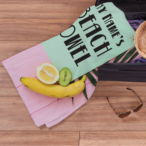 Personalised Beach Towel - Tropical Summer