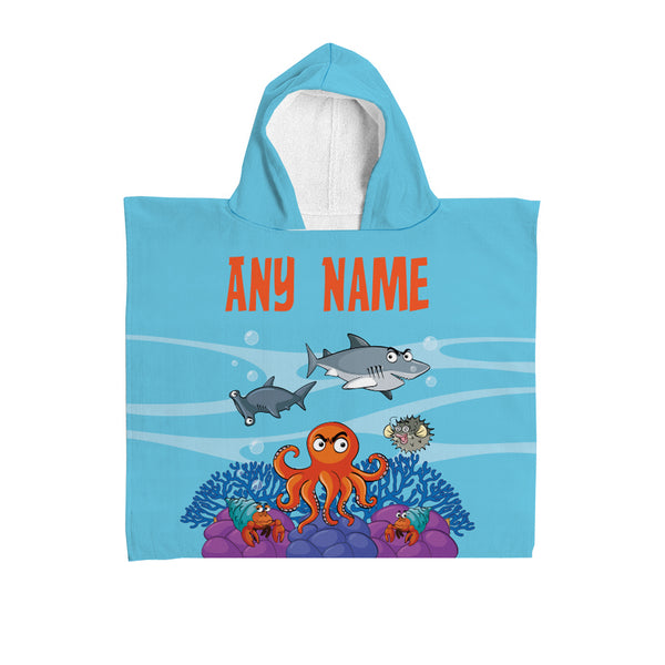 Personalised Boys Hooded Towel