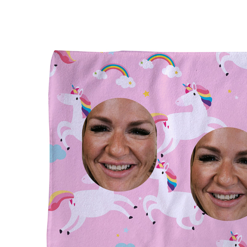 Unicorn - Face Scatter Beach Towel