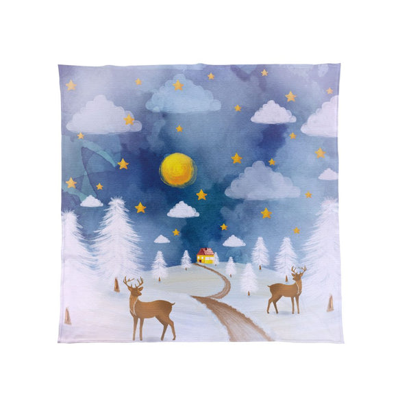 Watercolour Reindeer - Christmas Fleece