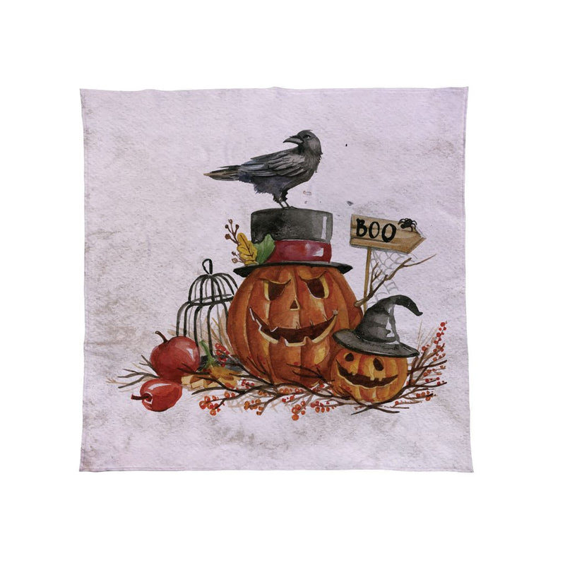 Watercolour Pumpkin - Halloween Fleece Throw