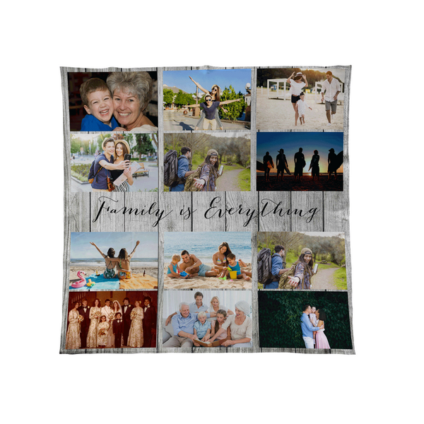Wood White - Personalised Photo Fleece Blanket