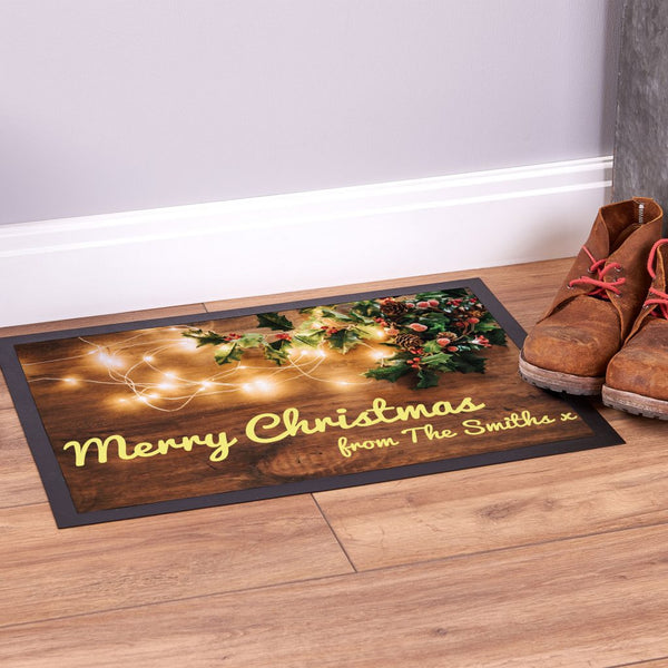 Wood Floor - Christmas Door Mat