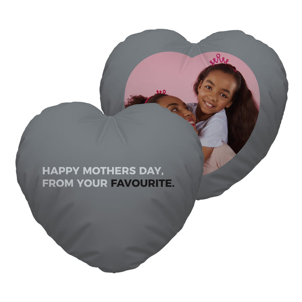Your Favourite - Photo Heart Shaped Cushion