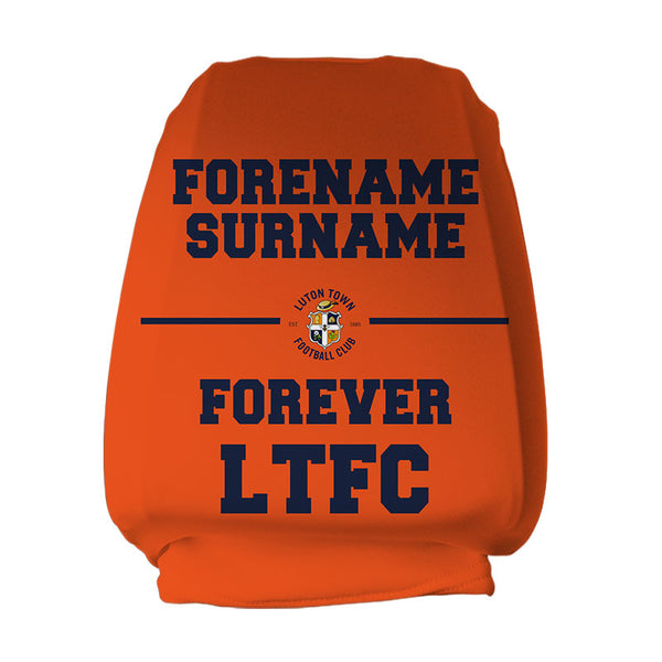 Luton Town FC Forever Personalised Headrest Covers