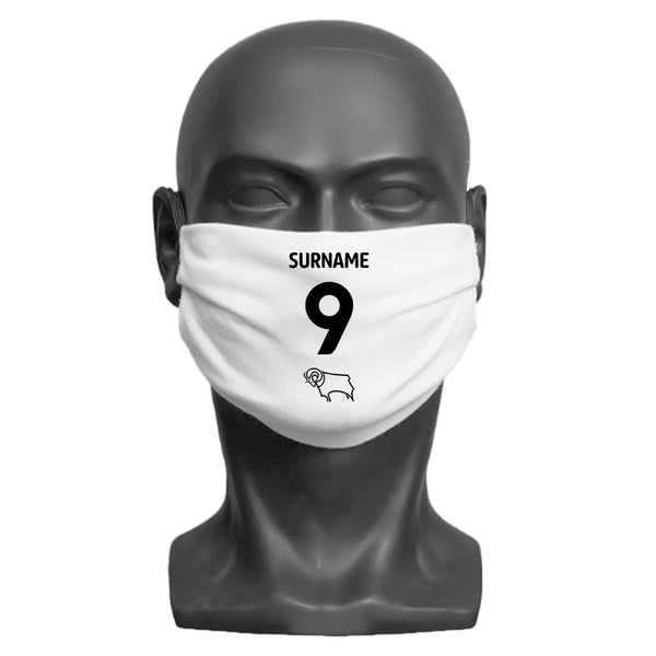 Derby County Back of Shirt Adult Face Mask