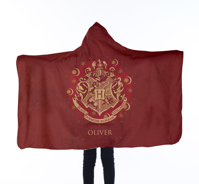 Harry Potter™ Personalised Kids Hooded Blanket - Red Crest