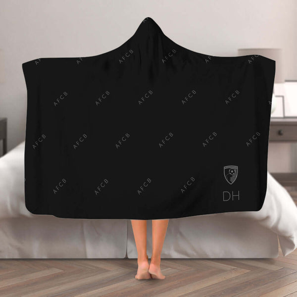 AFC Bournemouth Pattern Hooded Blanket (Adult)