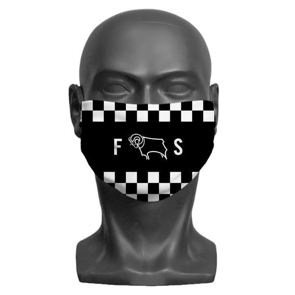 Derby County Initials Adult Face Mask
