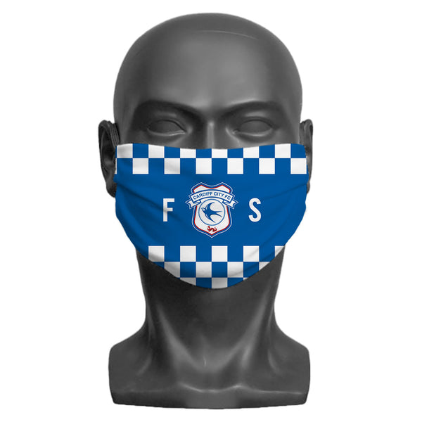 Cardiff City FC Initials Adult Face Mask