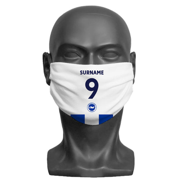 Brighton & Hove Albion FC Back of Shirt Adult Face Mask