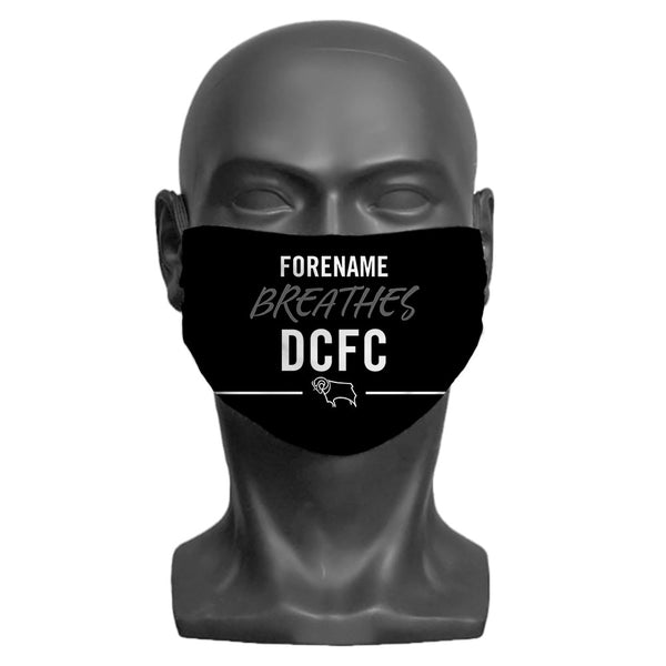 Derby County Breathes Adult Face Mask