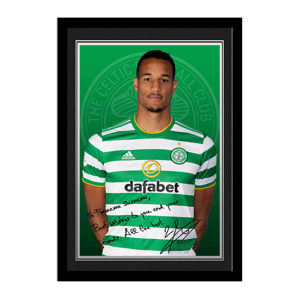 Personalised Celtic FC Jullien Autograph Photo Framed