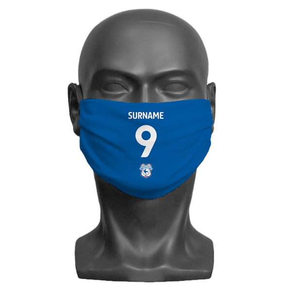 Cardiff City FC Back of Shirt Adult Face Mask