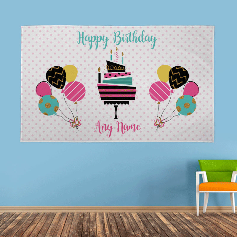 Personalised Party Name Banner - 5ft x 3ft