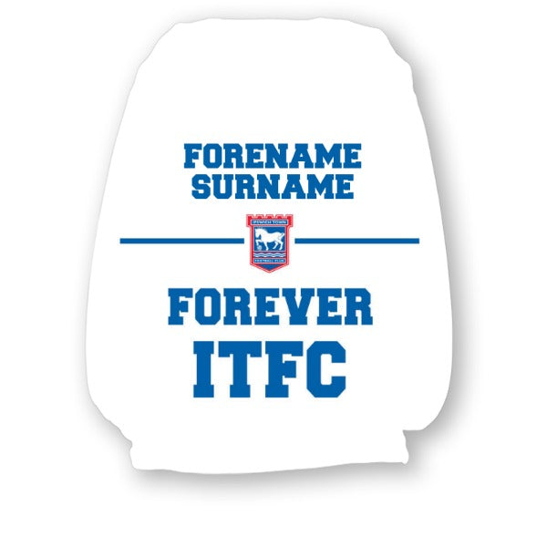 Ipswich Town FC Forever Personalised Headrest Covers