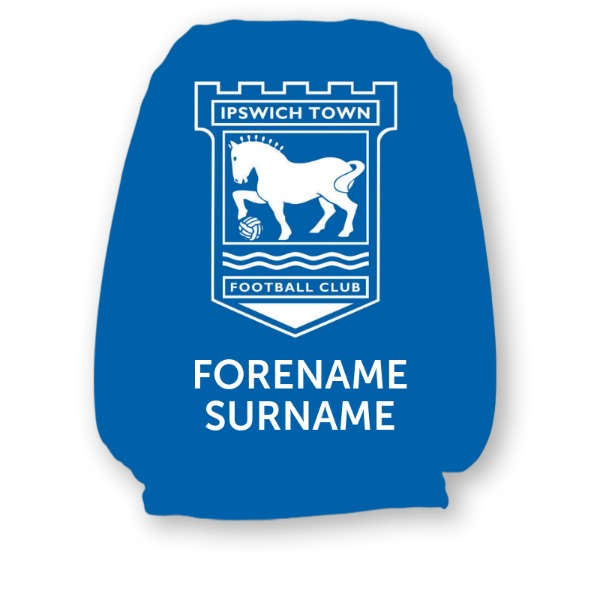 Ipswich Town FC Mono Personalised Headrest Covers