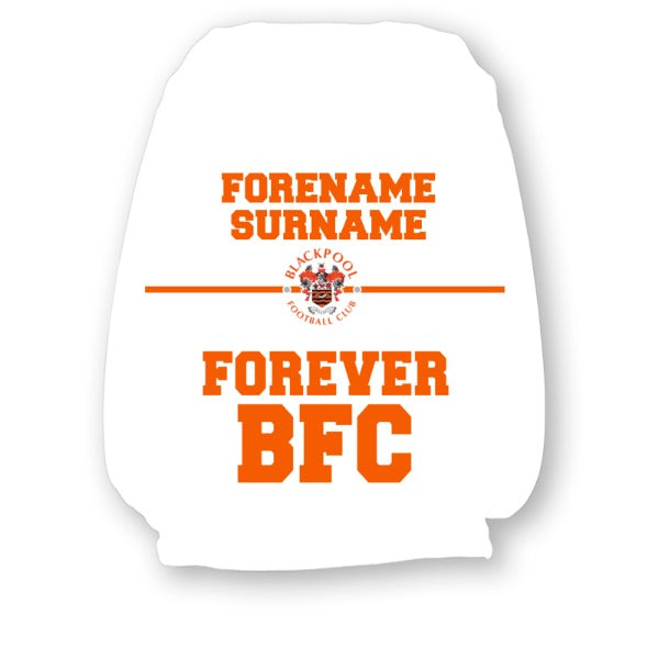 Blackpool FC Forever Personalised Headrest Covers