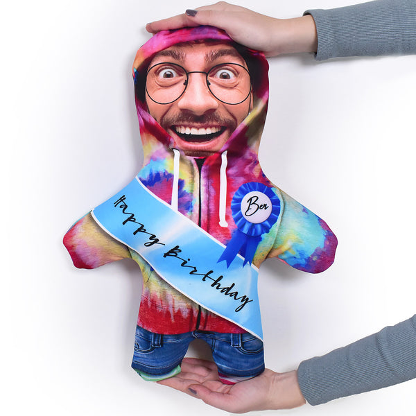 Birthday Sash - Tie dye Hoodie - Personalised Mini Me Doll