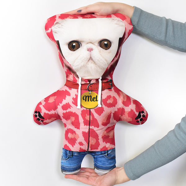 Pink Leopard Hoodie - Personalised Pet Mini Me