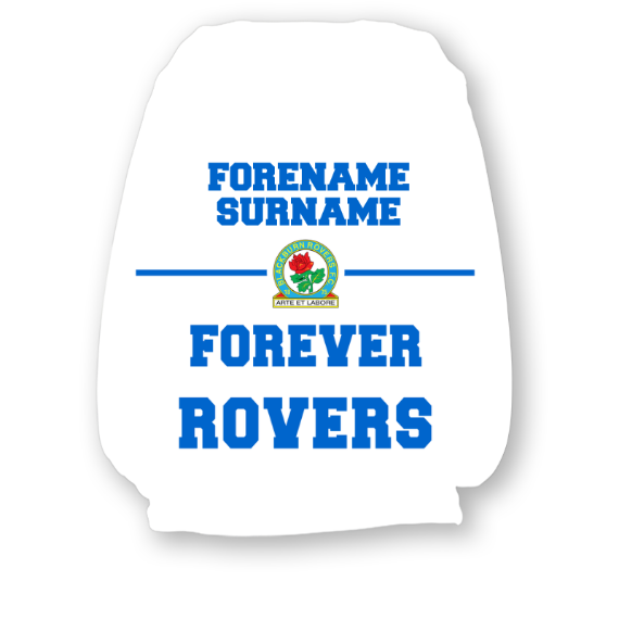 Blackburn Rovers FC Forever Personalised Headrest Covers