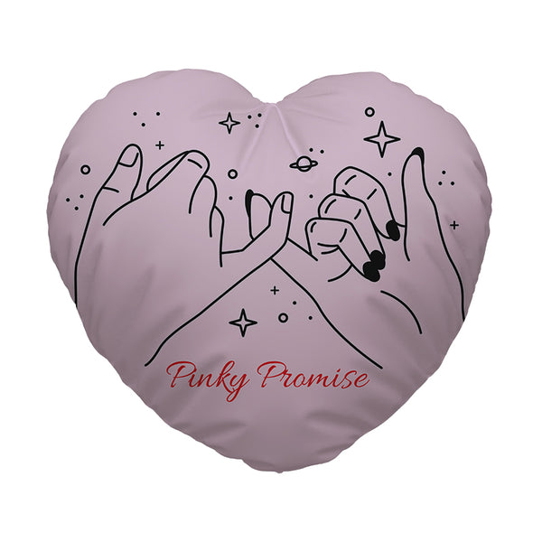Heart Shaped Cushion - Pinky Promise