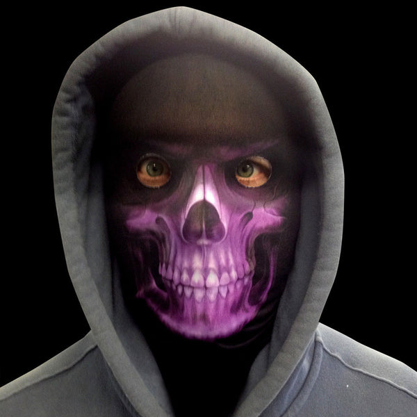 Grim Reaper - Purple Skull - Faceskin
