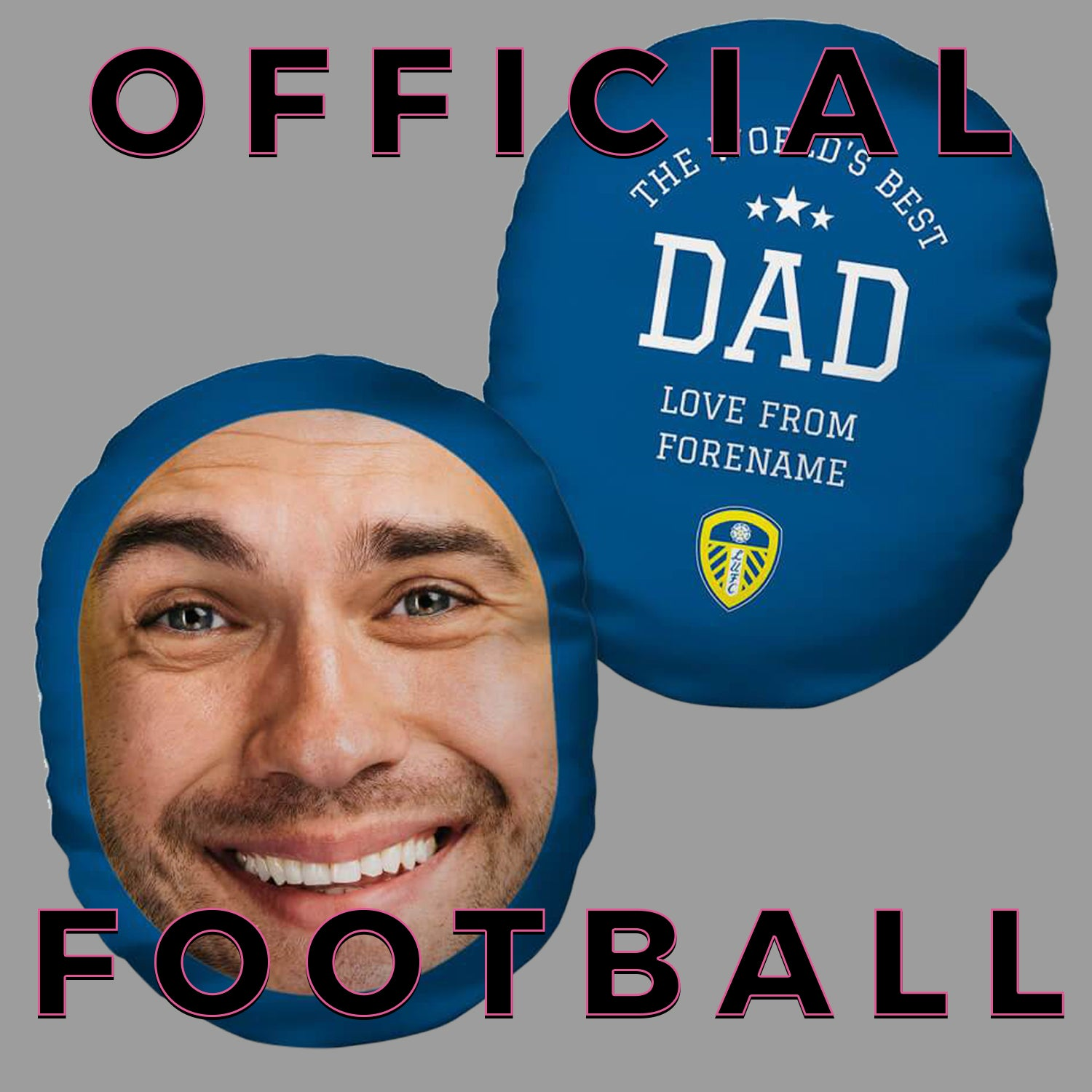 Funny Football Personalised Face Cushion