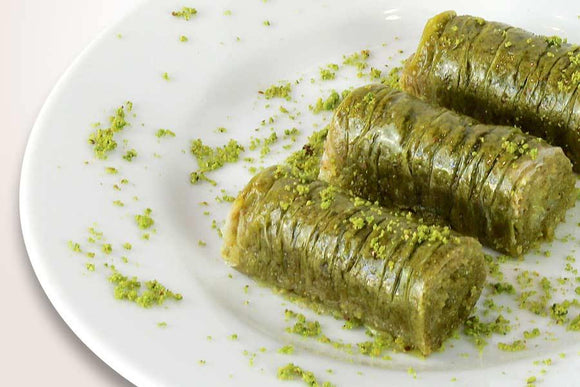 Homemade Pistachio Rolls / Fistik Sarma - Turkish Food Basket