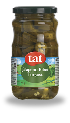 Tat Pickled Jalapeno Peppers / Jalapeno Biber Tursusu 370 Gr - Turkish Food Basket