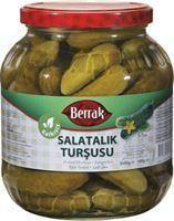 Berrak Gherkin Pickles (Salatalik Tursusu) No:2 1700Ml Glass - Turkish Food Basket
