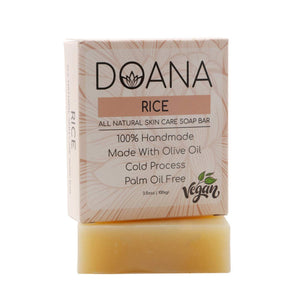 Pirinç Özlü Doana Dogal Sabun - Vegan / Palm Oil Free Rice Soap Bar - Turkish Food Basket
