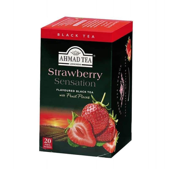 Ahmad Tea Strawberry Sensation 20 Bags / Cilekli Poset Cay