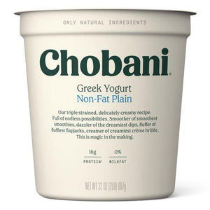 Chobani Non Fat Plain Yogurt 907 Gr - Turkish Food Basket