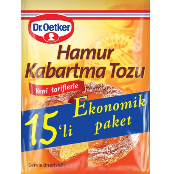 Dr Oetker Baking Powder 15 Pieces / Dr. Oetker kabartma tozu 15'li - Turkish Food Basket